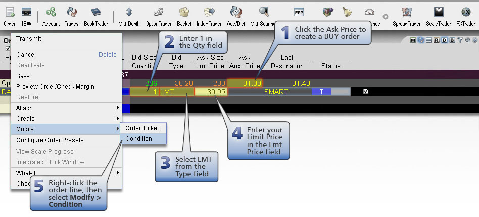 Conditional Buy Order